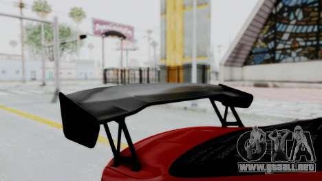 BMW M4 F82 Race Tune para GTA San Andreas vista hacia atrás