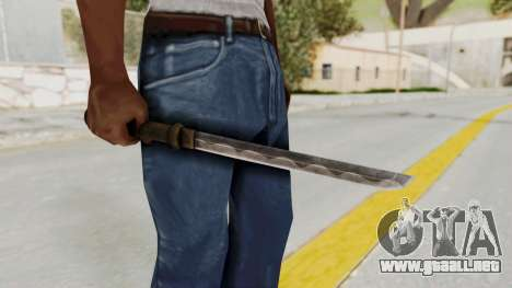 Skyrim Iron Tanto para GTA San Andreas