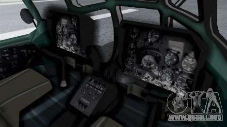 Mi-8 Croatian para GTA San Andreas vista posterior izquierda