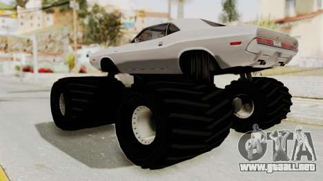 Dodge Challenger 1970 Monster Truck para la visión correcta GTA San Andreas