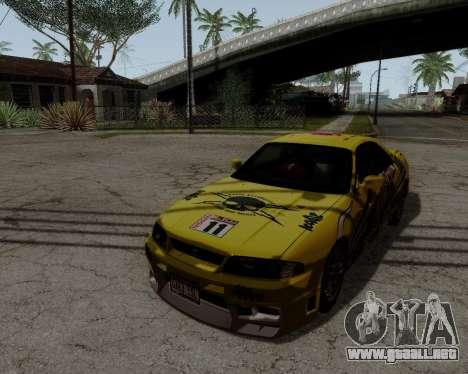 Nissan R33 GT-R Tunable para la vista superior GTA San Andreas