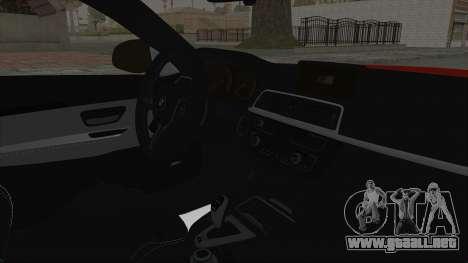BMW M4 F82 Race Tune para la visión correcta GTA San Andreas