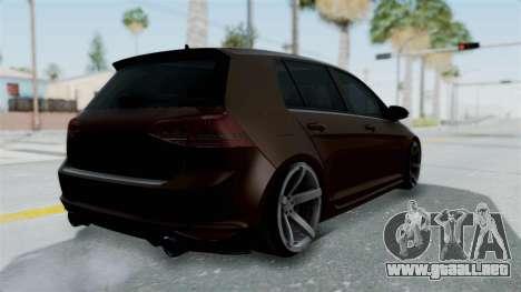 Volkswagen Golf 7 Stance para GTA San Andreas left