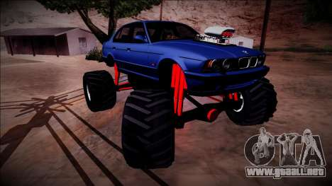 BMW M5 E34 Monster Truck para vista inferior GTA San Andreas