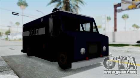 CCPD Boxville from Manhunt para la visión correcta GTA San Andreas