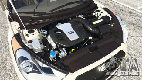 GTA 5 Hyundai Veloster Turbo delantero derecho vista lateral