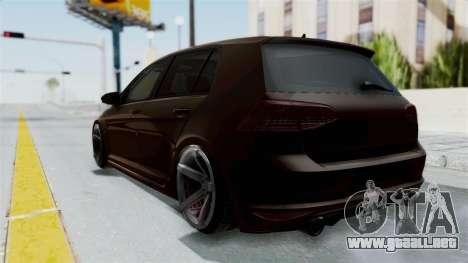 Volkswagen Golf 7 Stance para GTA San Andreas vista posterior izquierda