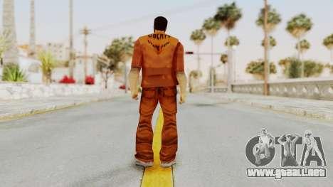 Claude Speed (Prision) from GTA 3 para GTA San Andreas tercera pantalla