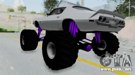 Chevrolet Camaro Z28 1970 Monster Truck para GTA San Andreas left