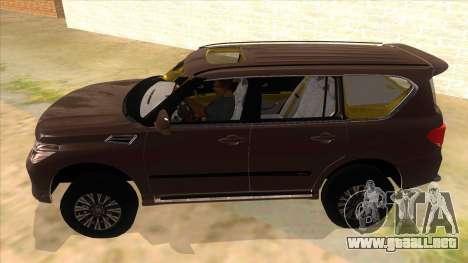 Nissan Patrol 2016 para GTA San Andreas left
