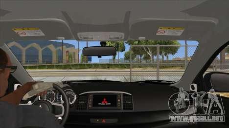 Mitsubishi Lancer Evolution X Tunable para visión interna GTA San Andreas