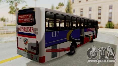 Superlines Ordinary Bus para la visión correcta GTA San Andreas