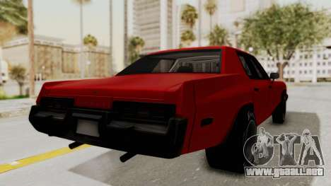 Dodge Monaco 1974 Drag para GTA San Andreas left
