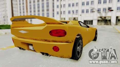 GTA 3 Infernus para GTA San Andreas left