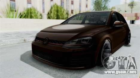 Volkswagen Golf 7 Stance para la visión correcta GTA San Andreas