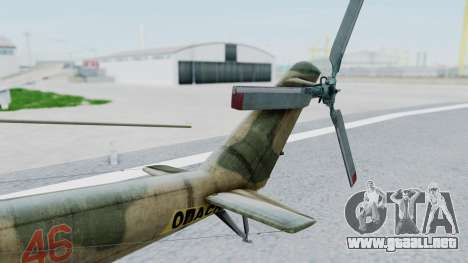 Mi-24V Russian Air Force 46 para GTA San Andreas vista posterior izquierda