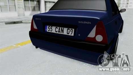 Dacia Solenza para GTA San Andreas vista hacia atrás