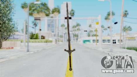 Skyrim Iron Claymore para GTA San Andreas segunda pantalla