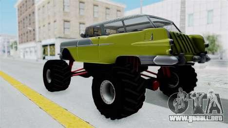 Pontiac Safari 1956 Monster Truck para GTA San Andreas vista posterior izquierda