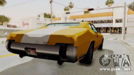 GTA VCS - Cholo Sabre para GTA San Andreas vista posterior izquierda