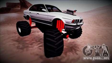 BMW M5 E34 Monster Truck para vista lateral GTA San Andreas