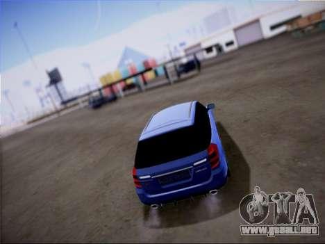 Subaru Legacy STi Wagon 2008 para vista lateral GTA San Andreas
