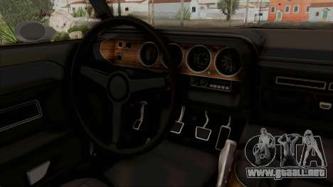 Dodge Challenger 1970 Monster Truck para visión interna GTA San Andreas