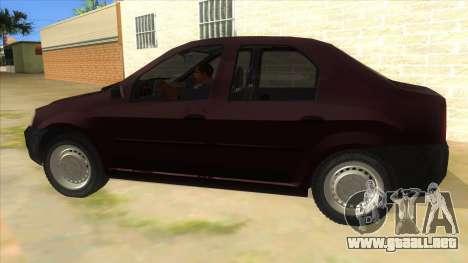 Dacia Logan V2 Final para GTA San Andreas left