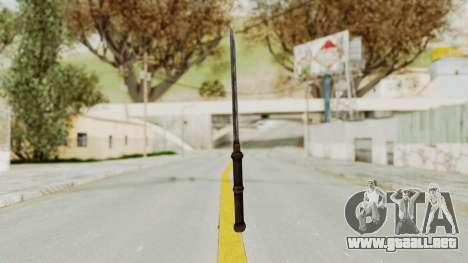 Skyrim Iron Tanto para GTA San Andreas tercera pantalla