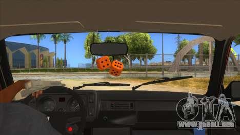 VAZ 2107 Rusty Gringo para visión interna GTA San Andreas