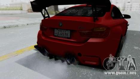 BMW M4 F82 Race Tune para visión interna GTA San Andreas