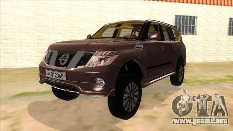 Nissan Patrol 2016 para GTA San Andreas