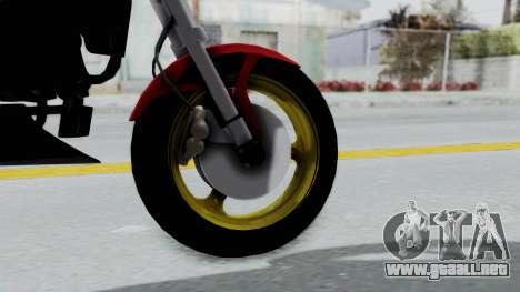 Ducati Monster para GTA San Andreas vista posterior izquierda