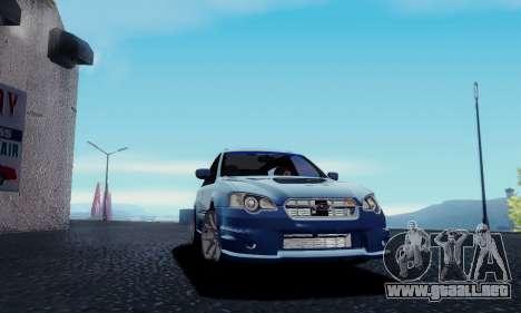 Subaru Legacy STi Wagon 2008 para GTA San Andreas vista posterior izquierda