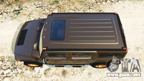 GTA 5 Hummer H2 2005 [teñido] v2.0 vista trasera