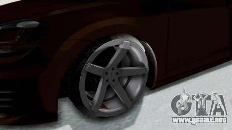 Volkswagen Golf 7 Stance para GTA San Andreas vista hacia atrás