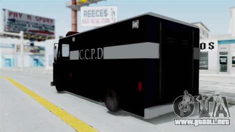 CCPD Boxville from Manhunt para GTA San Andreas left