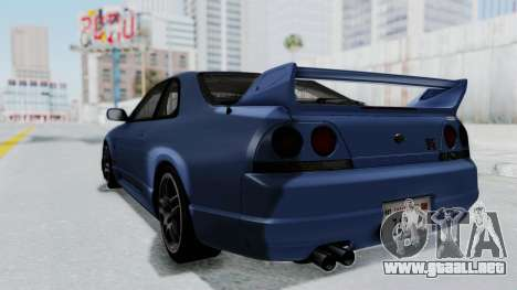 Nissan Skyline R33 GT-R V-Spec 1995 para GTA San Andreas left