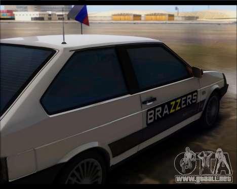 VAZ 2108 Militares Clásicos para GTA San Andreas vista posterior izquierda