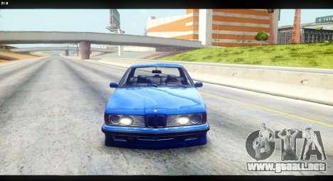 BMW M635 CSi (E24) para la visión correcta GTA San Andreas