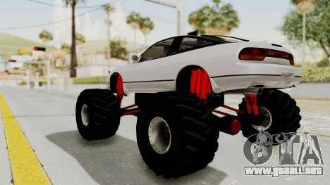 Nissan 240SX Monster Truck para GTA San Andreas vista posterior izquierda