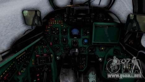 Mi-24V Ukraine Air Force 010 para GTA San Andreas vista hacia atrás