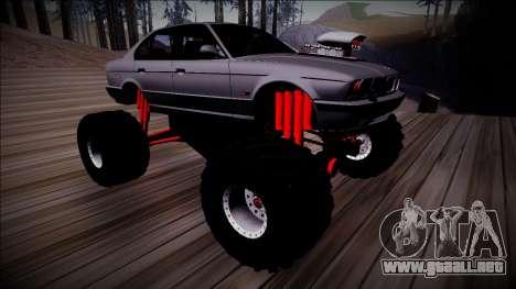BMW M5 E34 Monster Truck para visión interna GTA San Andreas
