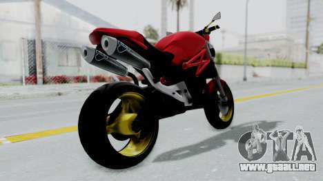 Ducati Monster para GTA San Andreas left