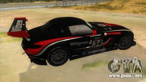 Mercedes Benz SLS AMG GT3 para la vista superior GTA San Andreas
