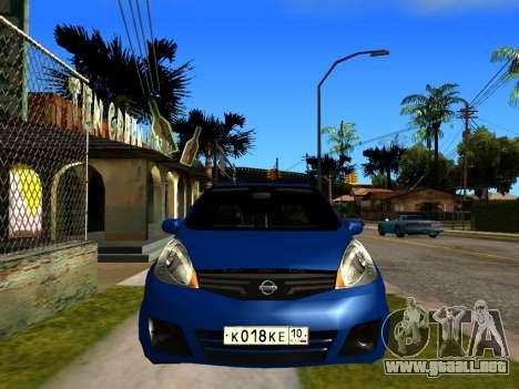Nissan Note KURMIN StreetRacer para la visión correcta GTA San Andreas