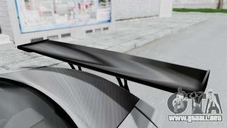 Nissan GT-R R35 2010 Liberty Walk para GTA San Andreas vista hacia atrás