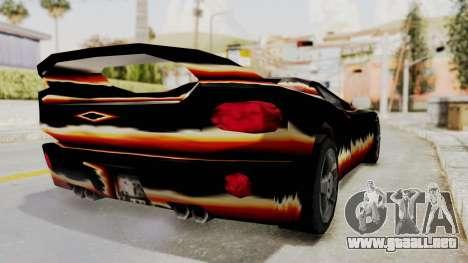 GTA 3 Diablos Infernus para GTA San Andreas vista posterior izquierda