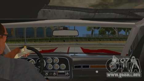 1972 Ford Gran Torino Drag para visión interna GTA San Andreas