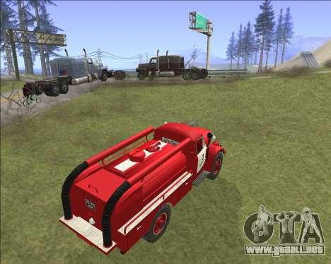 GAZ 63 de Bomberos para GTA San Andreas vista hacia atrás